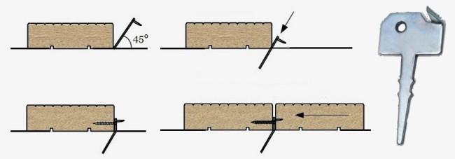 Схема фиксации под «Ключ».