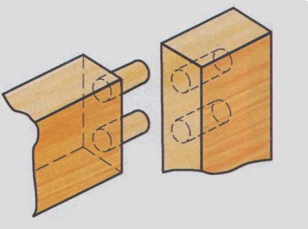 Схема крепления на мебельные шканты.