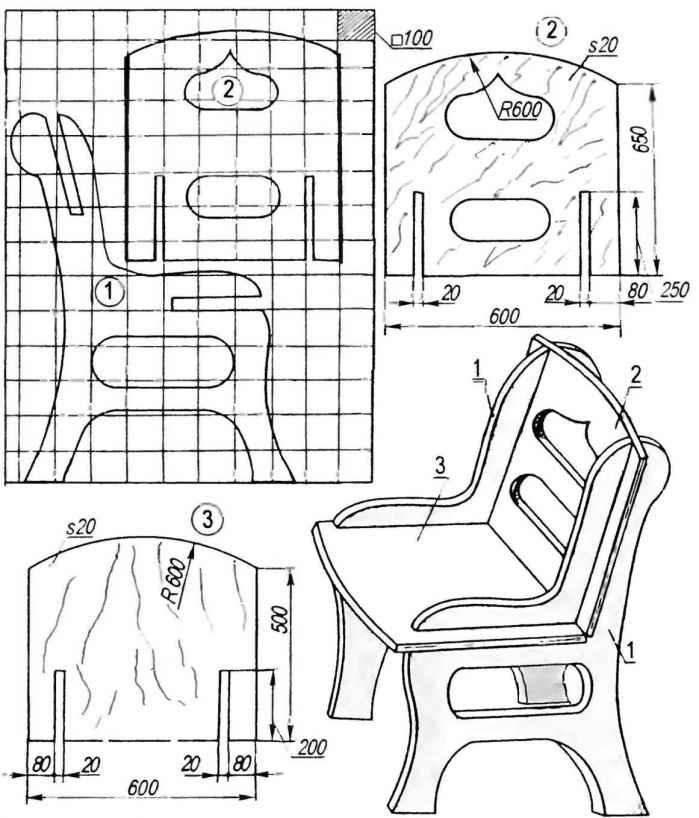 Схема кукольного стульчика