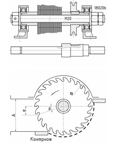 Схема режущего элемента на основе дисковых пил