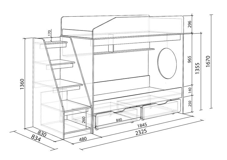Кровать чердак своими руками выбор конструкции, размеры
