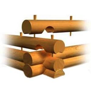 Схема соединения венцов нагелями