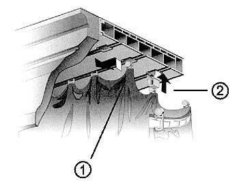 Система крепежей, располагающаяся за декоративной планкой