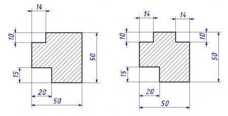 Слева вариант для одного стекла, справа – для установки двух стекол