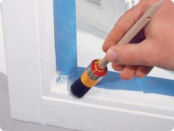 Собственноручная покраска деревянных стеклопакетов