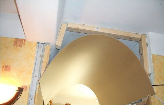 Создание арочного проёма с помощью древесно-слоистой плиты
