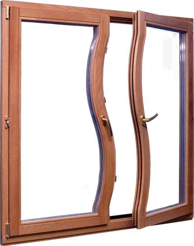 Специалисты могут изготовить окна с изогнутыми створками – для пластика такие варианты невозможны