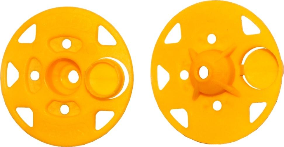 Специальная прижимная шайба именуется рондоль и имеет в конструкции особую крышечку, которая закрывает шляпку самореза