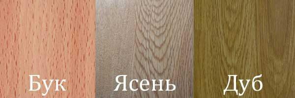 Сравнение представленных видов древесины.