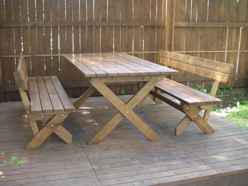 Стол и стулья – дерево нашло применение повсеместно!