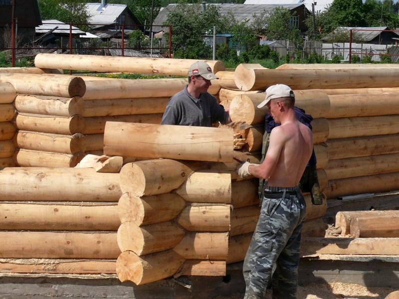 Строительство дома из брёвен своими руками