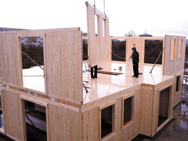 Строительство дома из панелей занимает минимум времени.