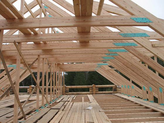 Стропильная система деревянного дома