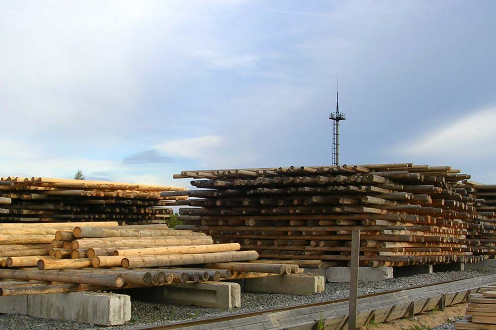 Сушка деревянных опор