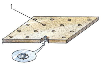 Так выполняется крепление фанеры без устройства лаг.