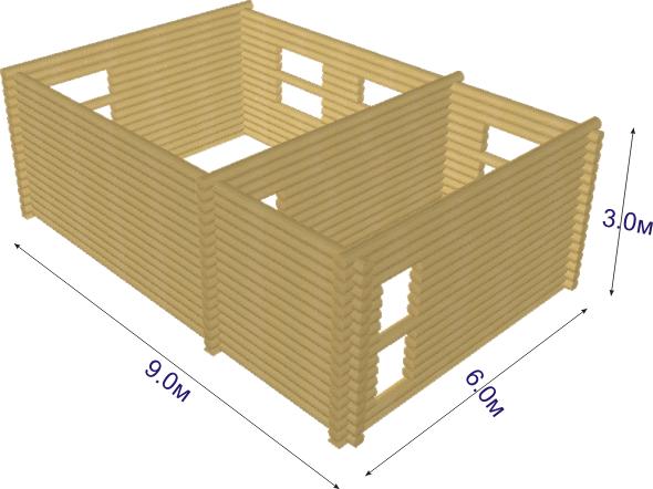 Такой рисунок очень наглядно показывает, из каких элементов состоит коробка строения