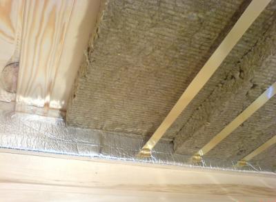 Тепло- и пароизоляционные материалы на перекрытии и стенах