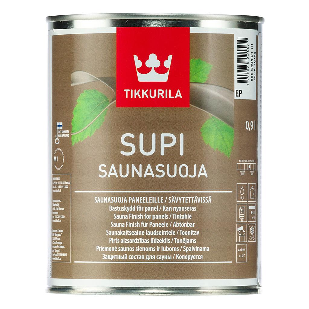 Tikkurila Supi Saunasuoja – колеруемая пропитка для бань и саун