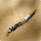 Тлеющая сигарета не нанесет никакого ущерба поверхности ламината