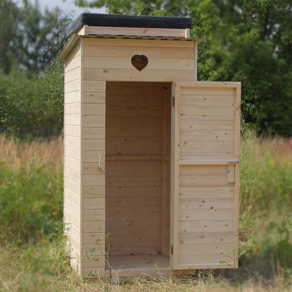 Туалет из дерева своими руками для дачи – отличное решение