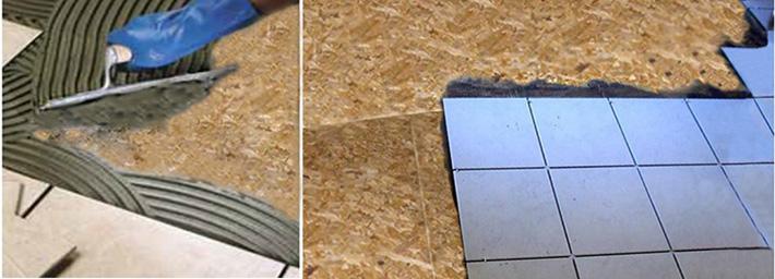 Укладка керамической плитки на ОСП
