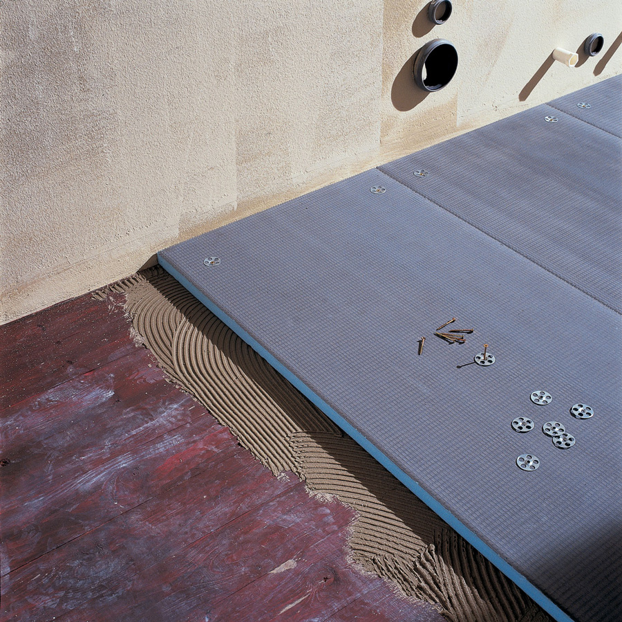 Укладка листов ГВЛ поверх дощатого основания