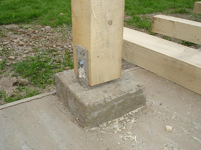 Крепление для деревянных столбов к бетону купить бетон парфенова