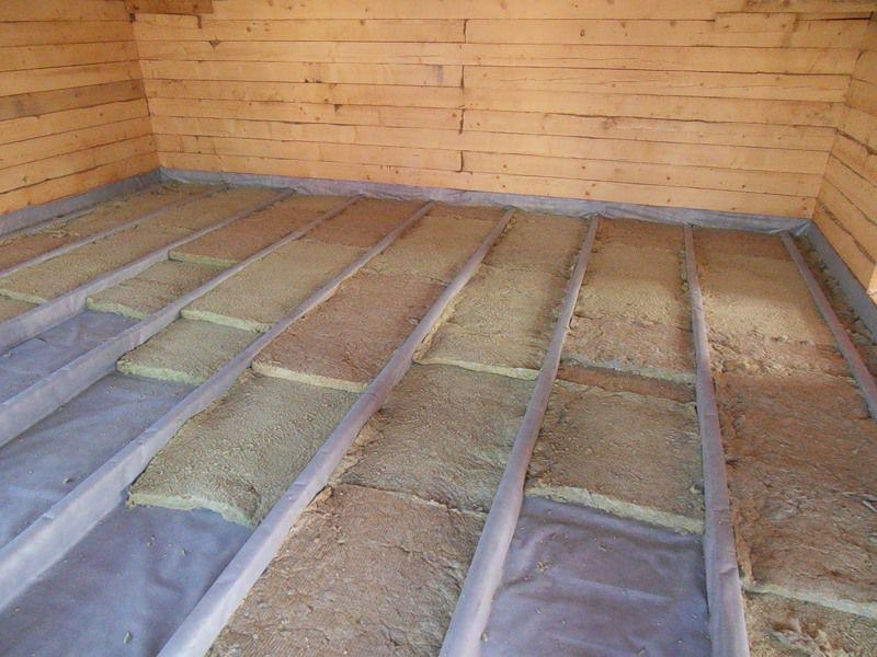 Утепление деревянного пола 1 этажа минеральными матами