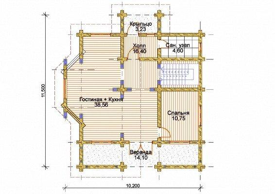 В архитектурный раздел входят чертежи внутренних помещений.