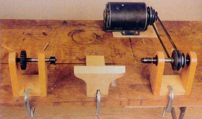 Самодельный токарный станок по дереву - видео