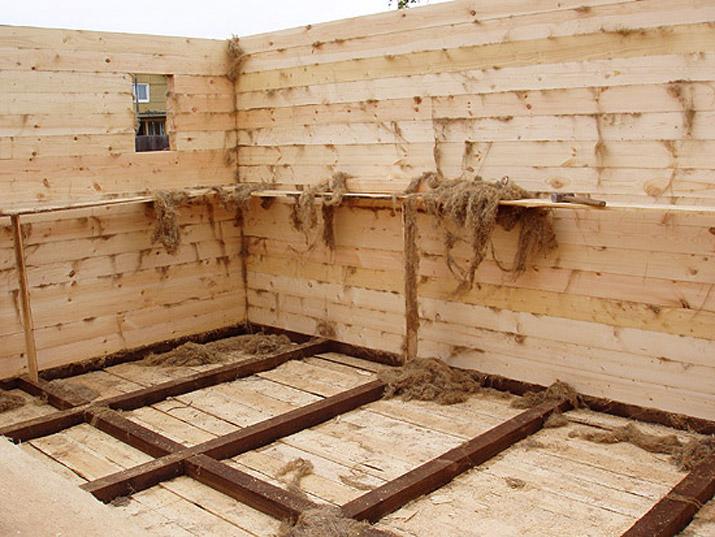 Вид изнутри во время строительства.