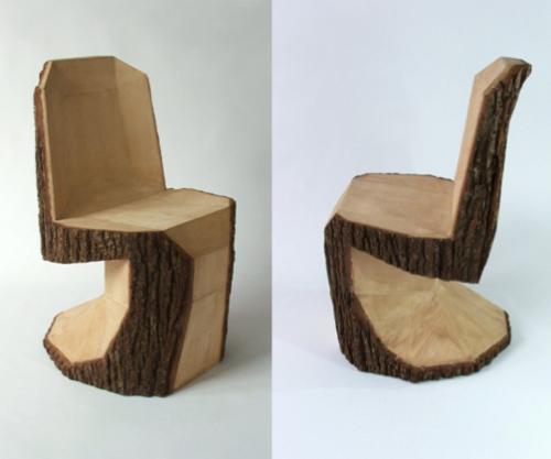 Вот такой стул можно сделать из колодки