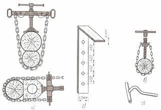 Временное соединение деревянного столба и приставки