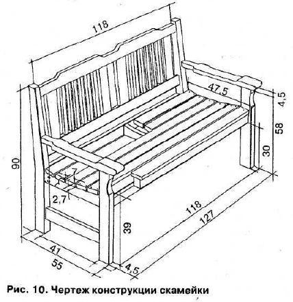 Изготовление деревянной мебели своими руками чертежи фото 202
