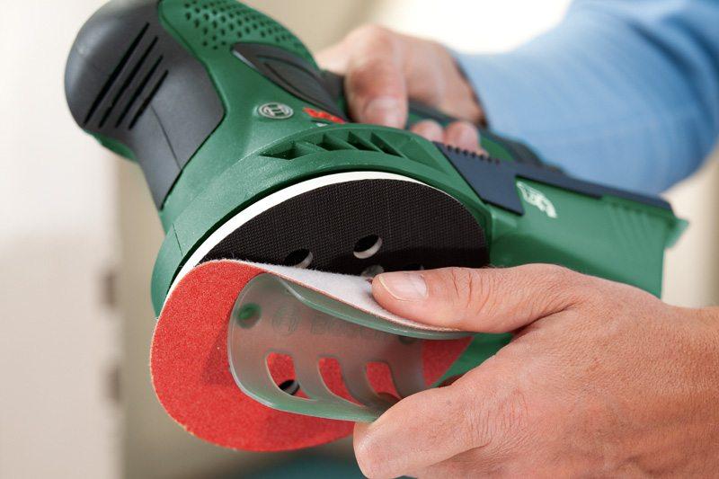 Замена расходных материалов на эксцентриковой шлифовальной машине