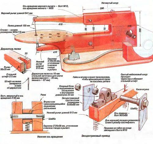 Заводской электролобзик в деталях