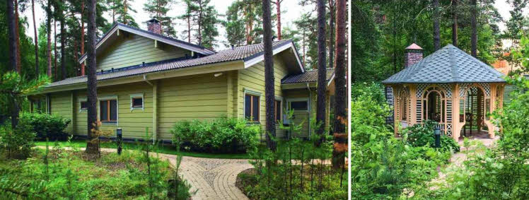 Зеленоватый оттенок дома